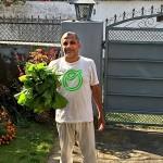 Guru with organic spinach