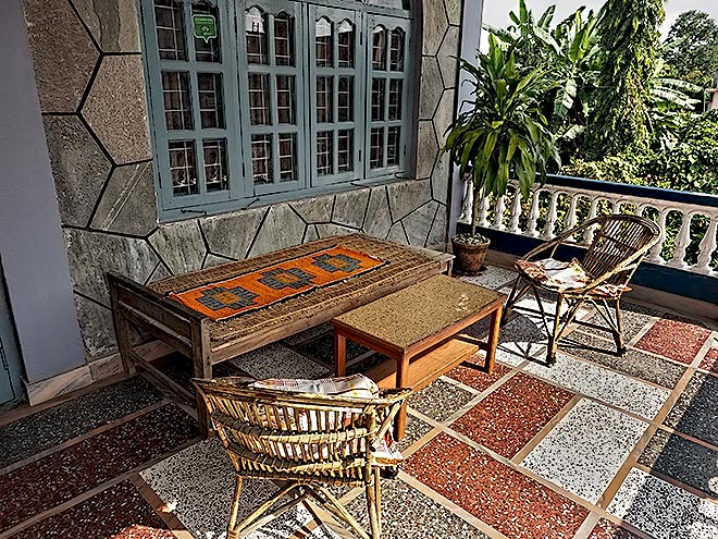 Relax on one of our porches