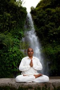 Yoga Guru Narayan Dhakal during a Spiritual Hike near Pokhara, Nepal